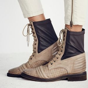 Free People Sounder Lace up Leather Boots